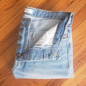 Forever 21 High Waist Rise Button Fly Jeans
